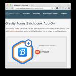 Gravity Forms BatchBook Add-On