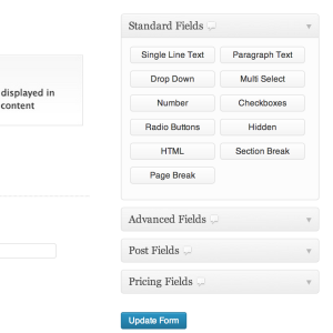 Content Gravity Forms For WordPress Demo Form Fields