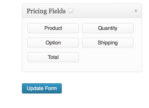 Content Gravity Forms Pricing Fields