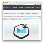 Gravity Forms Campaign Monitor Add-On