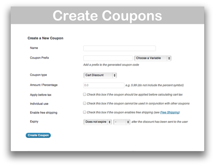WooCommerce Follow Up Emails Extension- Create Coupons Demo