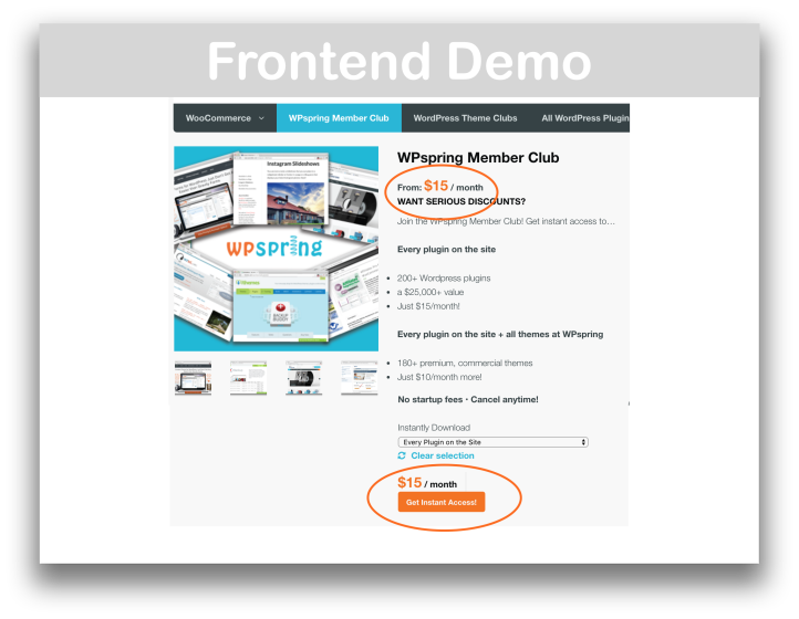 WooCommerce Subscriptions Download Plugin Customer View Demo