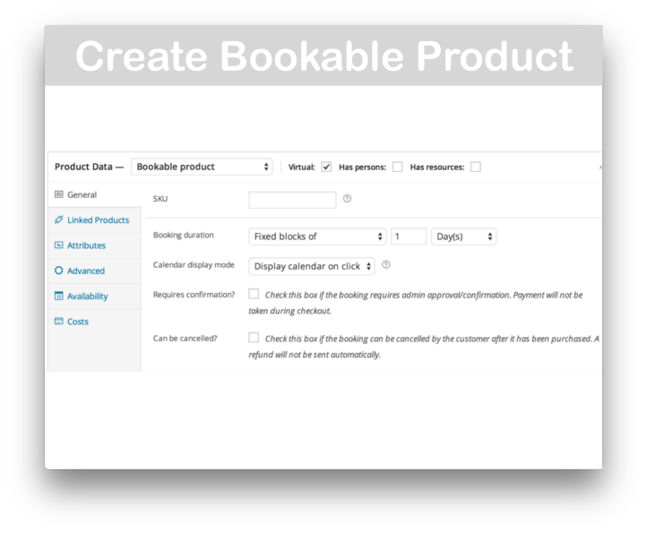WooCommerce Bookings Plugin- Create Bookable Product