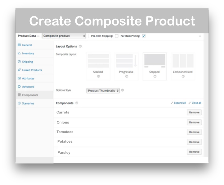WooCommerce Composite Products-  Create Product Demo