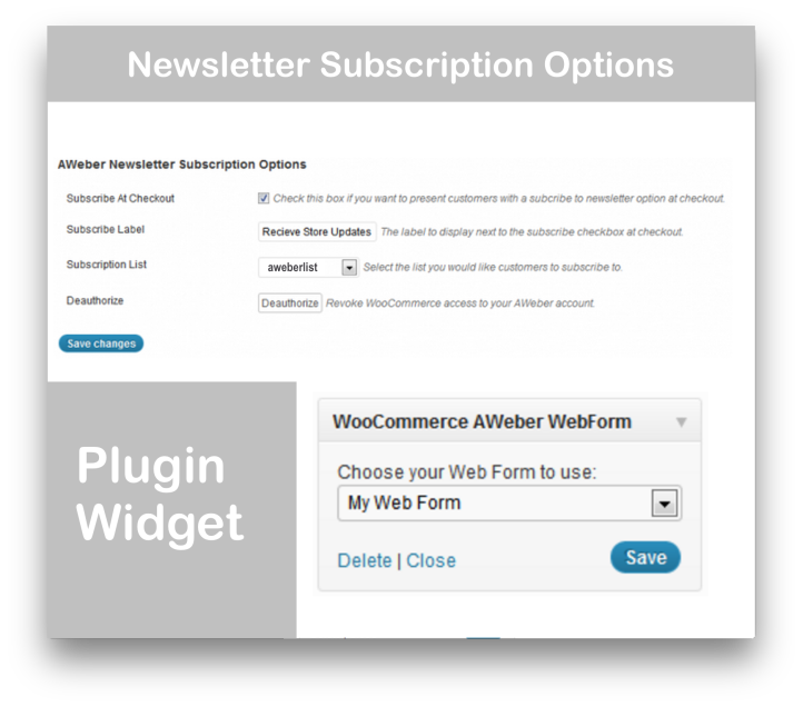 WooCommerce Aweber Newsletter Subscription Extension Demo