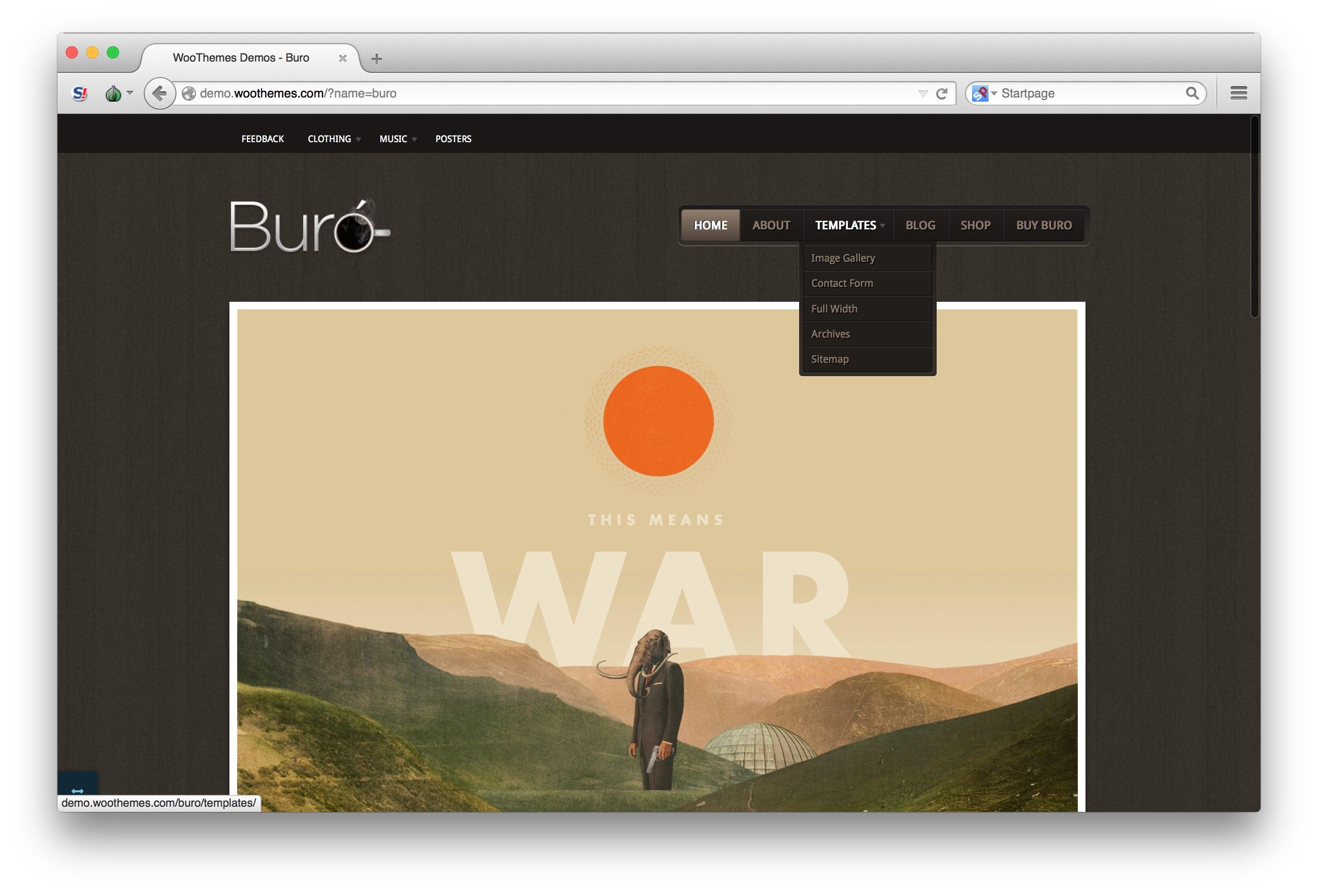 Woothemes buro theme homepage demo top for Buro premium