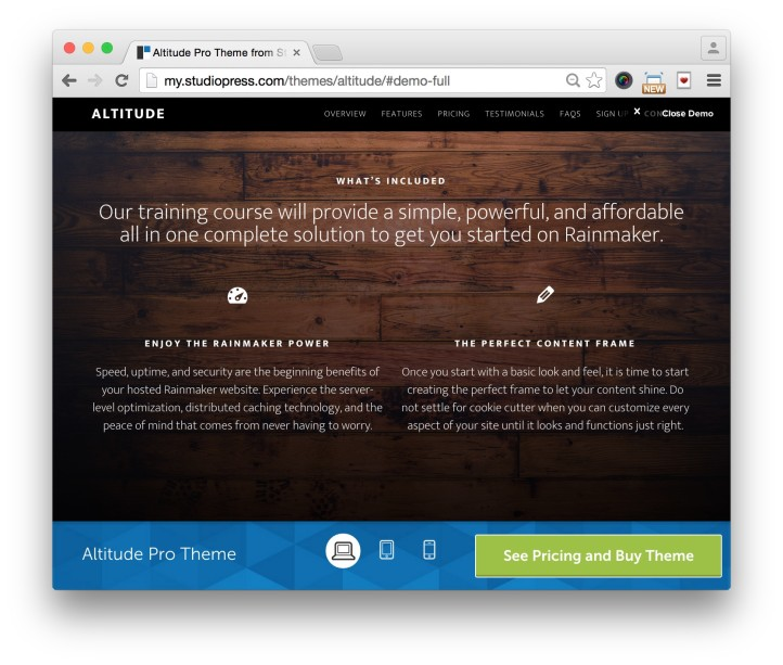 Studiopress Altitude Pro Theme Features Demo