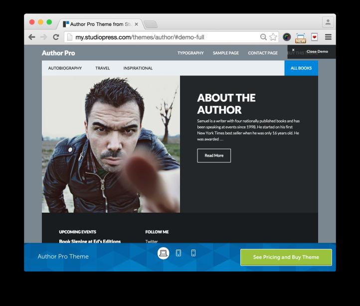 Studiopress Author Pro Theme Demo About Author