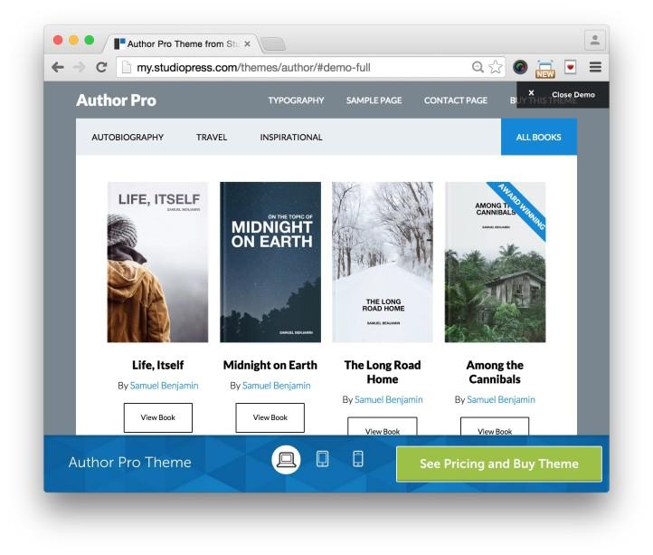 Studiopress Author Pro Theme Home Demo 2
