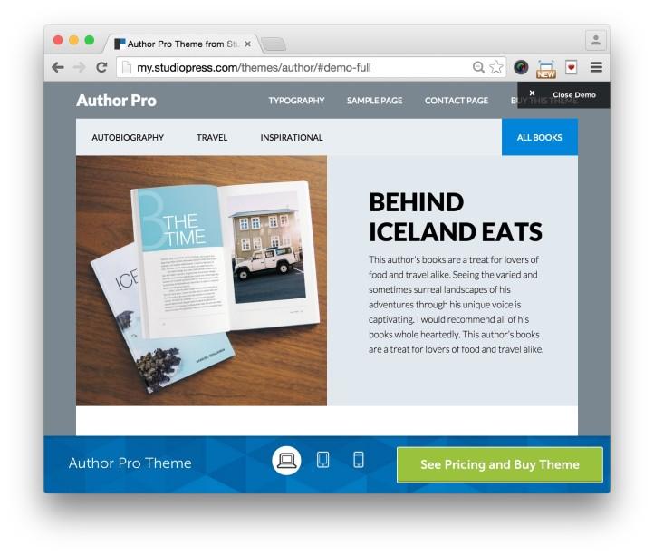 Studiopress Author Pro Theme Home Demo 3