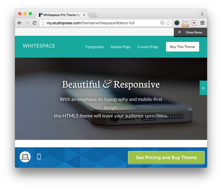 Studiopress Whitespace Pro Theme Home Demo 1