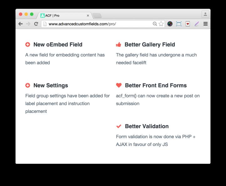 Advanced Custom Fields Pro Features 2