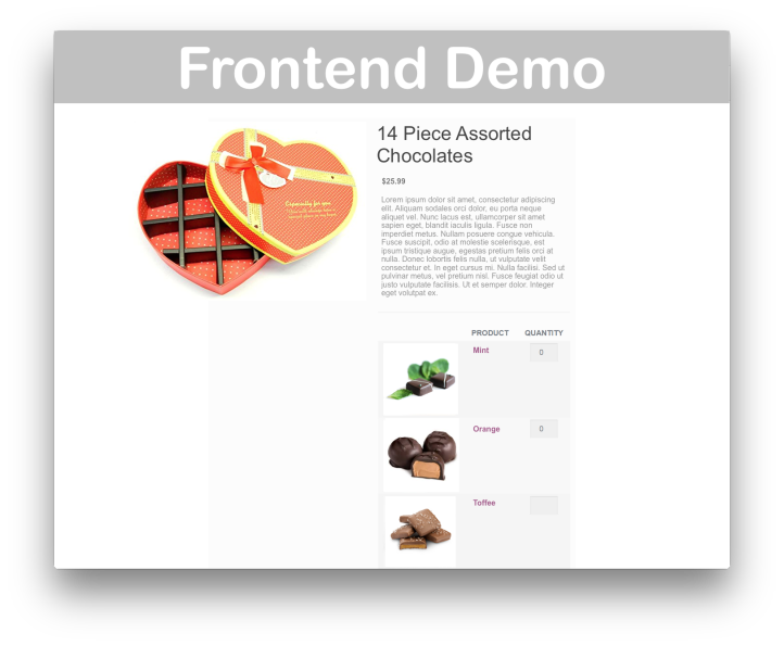 WooCommerce Mix and Match Products- Demo