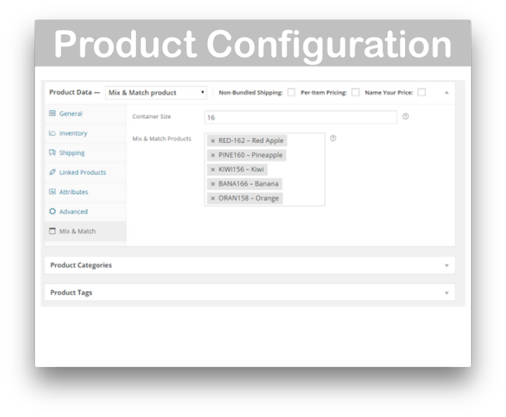 WooCommerce Mix and Match Products- Demo Configure