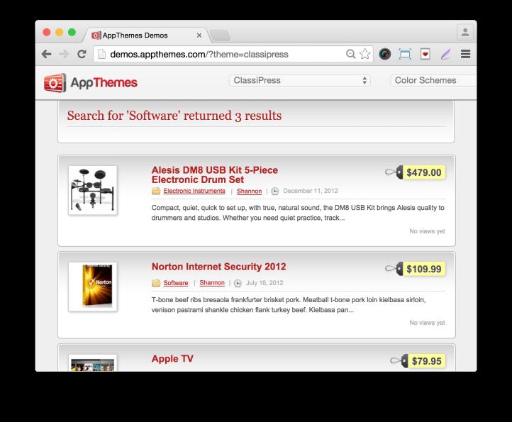 Wordpress Classified Ads Theme Classipress-Listings Demo