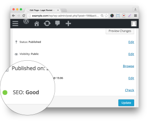 Wordpress SEO Premium Plugin by Yoast- SEO Rating Demo