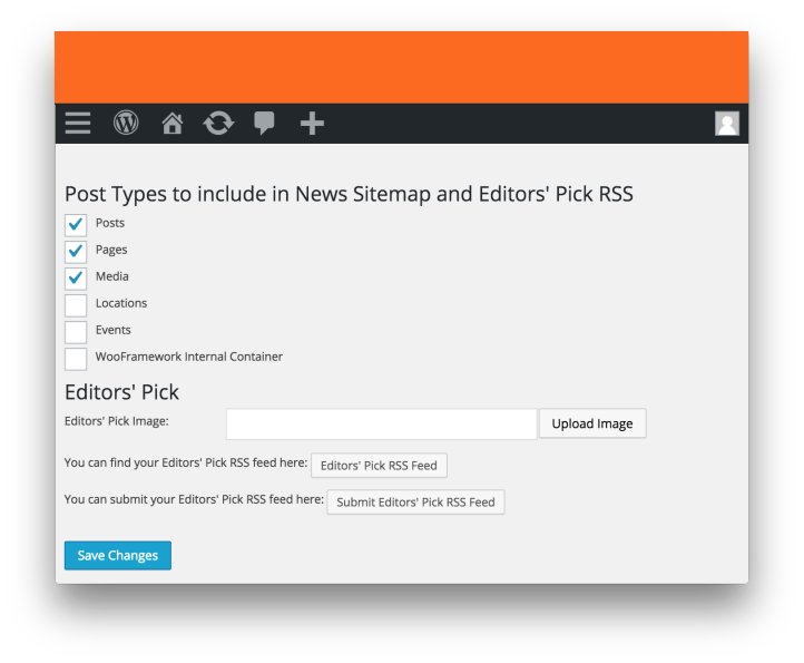 Wordpress News SEO Plugin by Yoast- News Sitemap Settings 2