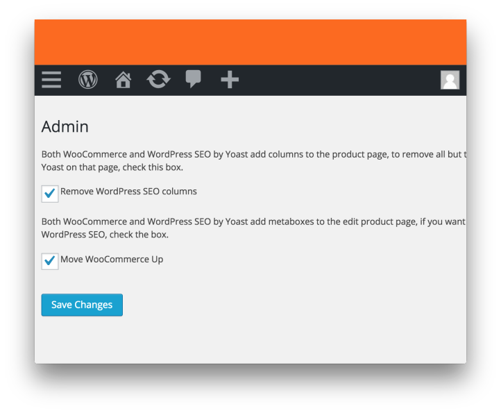Wordpress WooCommerce SEO Plugin by Yoast- Admin Settings