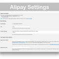 WooCommerce Alipay Cross Border Payment Gateway- Settings