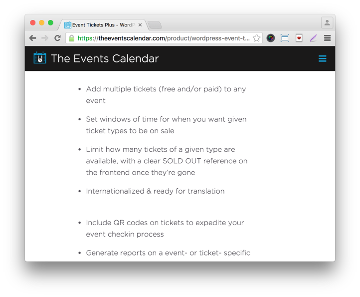 Event Tickets Plus Plugin: More Features
