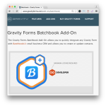 Gravity Forms BatchBook Add-On