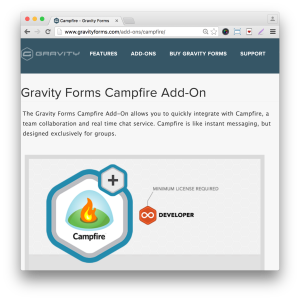 Gravity Forms Campfire Add-On