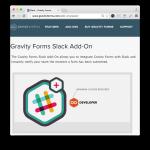 Gravity Forms Slack Add-On