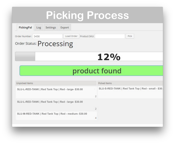 WooCommerce PickingPal Plugin- Picking Process Demo