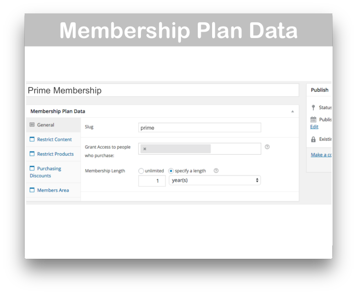 WooCommerce Memberships Plugin - Membership Data Plan Demo