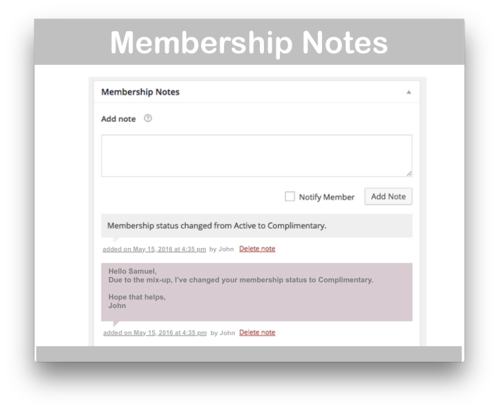 WooCommerce Memberships Plugin -Membership Notes Demo