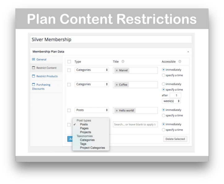 WooCommerce Memberships Plugin-Plan Content Restrictions Demo