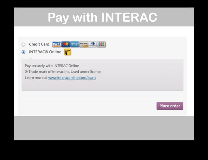 WooCommerce Moneris Payment Gateway- INTERAC Demo