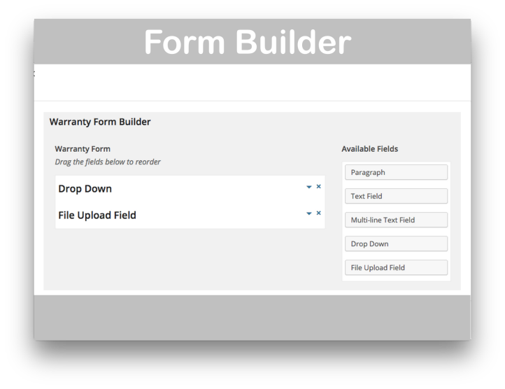 WooCommerce Warranty Requests Plugin- Form Builder Demo