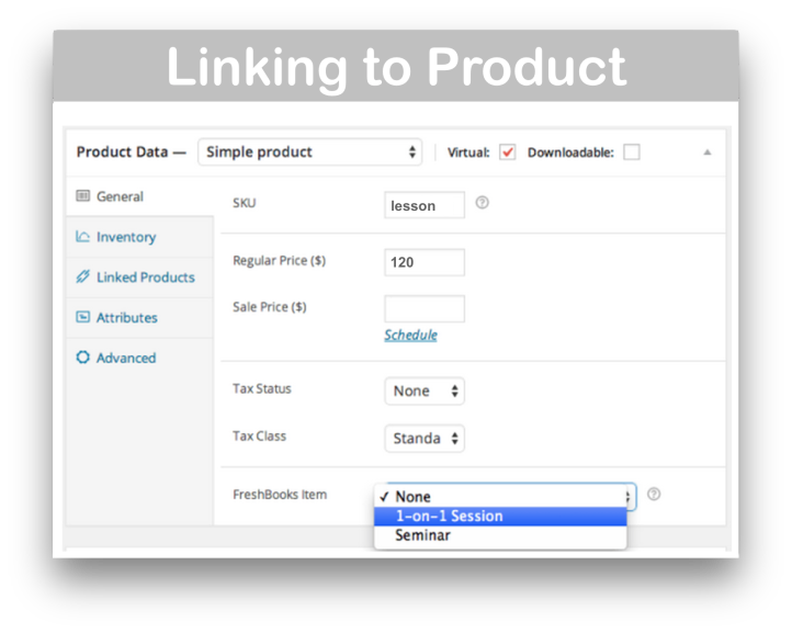 WooCommerce Freshbooks Integration Plugin- Product Linking Demo
