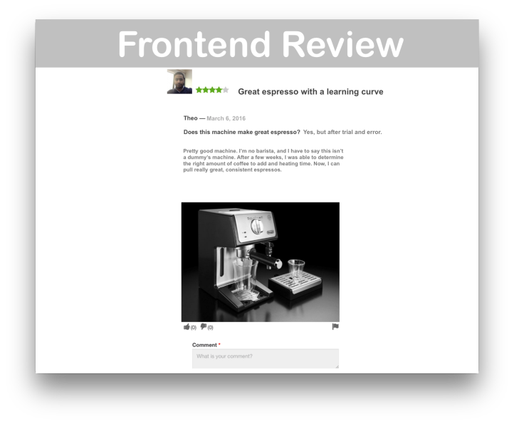 WooCommerce Product Reviews Pro- Frontend Review