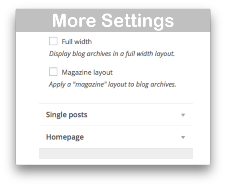 WooCommerce Storefront Blog Customiser- More Settings