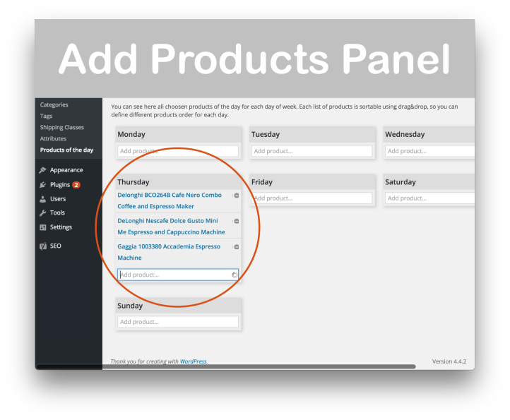 WooCommerce Products of the Day Plugin- Add Products 2