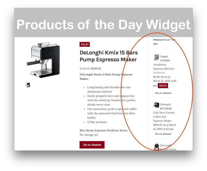 WooCommerce Products of the Day Plugin- Widget Demo