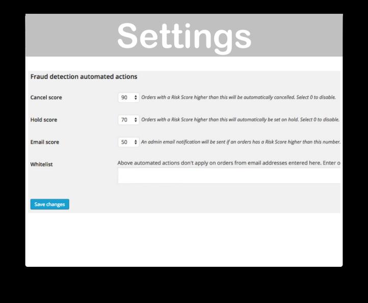 WooCommerce Anti Fraud Detection Plugin- Settings Demo