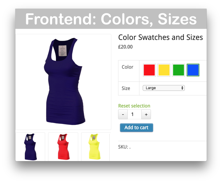 WooCommerce Variation Swatches and Photos- Demo 1