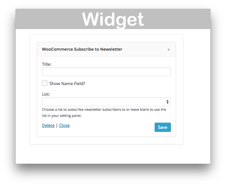WooCommerce Newsletter Subscription Plugin- Widget