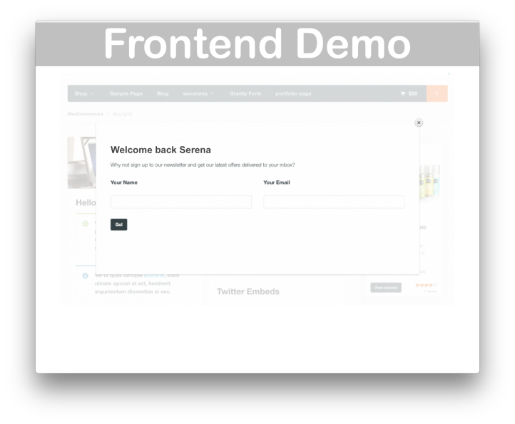 WooCommerce Popup Splash Plugin- Demo