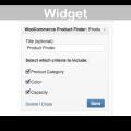 WooCommerce Product Finder Plugin- Widget Demo