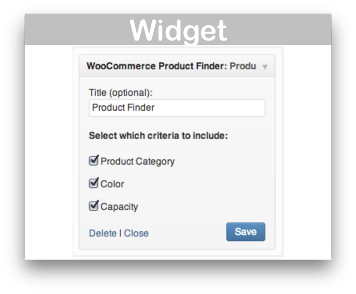 WooCommerce Product Finder Plugin- Widget Demo