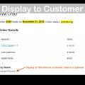 WooCommerce Admin Custom Order Fields Plugin- Customer View Demo