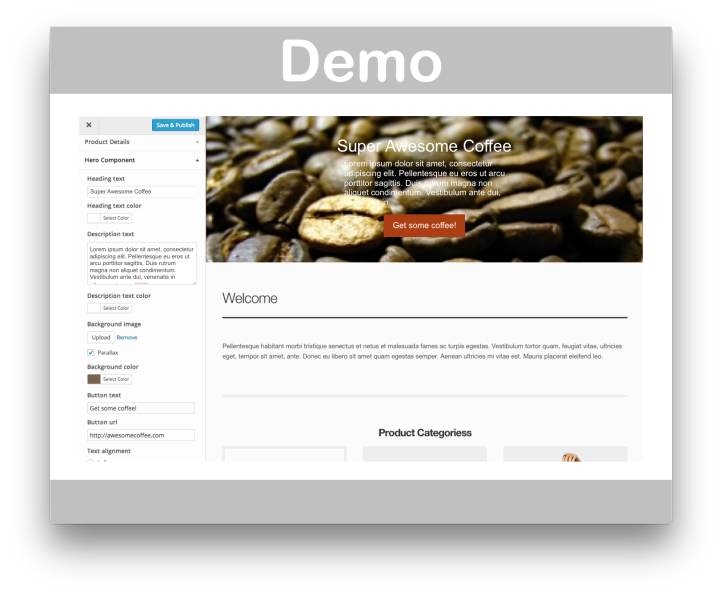WooCommerce Storefront Parallax Hero Extension- Demo