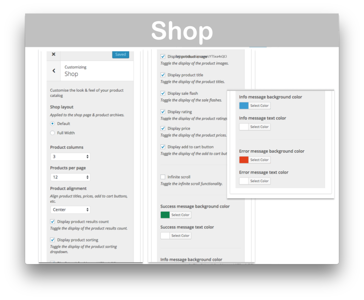 Storefront WooCommerce Customiser Extension- Shop Demo