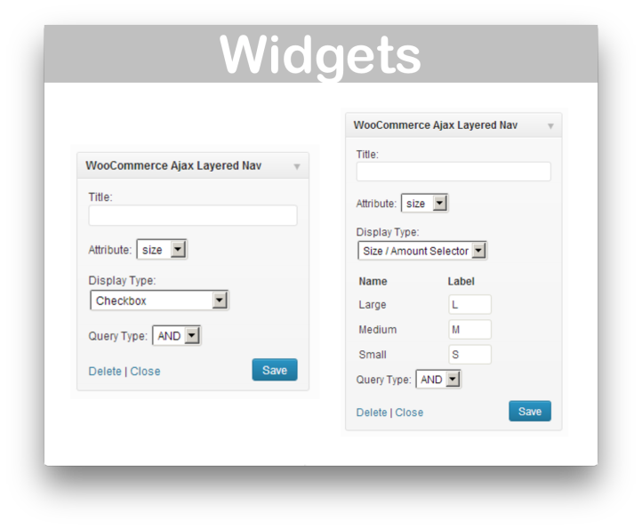 WooCommerce Ajax Layered Navigation Extension- Widget 2