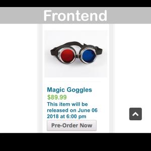 WooCommerce Pre-Orders Plugin- Frontend