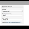 WooCommerce Shipment Tracking Plugin- Demo